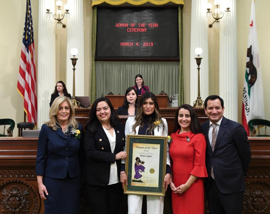Bricia Lopez was named the 2019 Woman of the Year of the 51st Assembly District